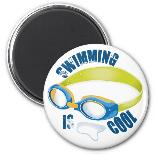 SWIMMING IS COOL REFRIGERATOR MAGNET