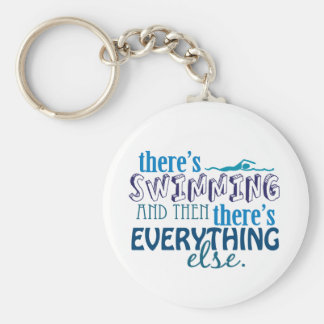 Swimming is Eleverything Basic Round Button Keychain