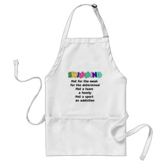 Swimming is for the determined adult apron