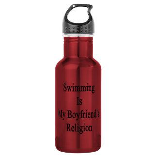 Swimming Is My Boyfriend's Religion 18oz Water Bottle