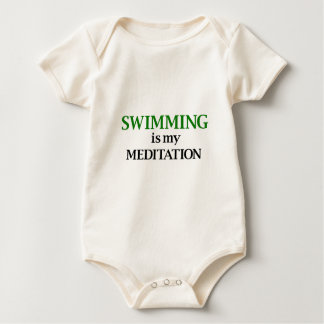Swimming is my Meditation Baby Bodysuit