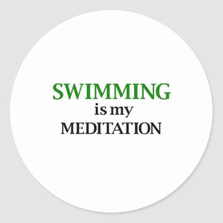 Swimming is my Meditation Classic Round Sticker