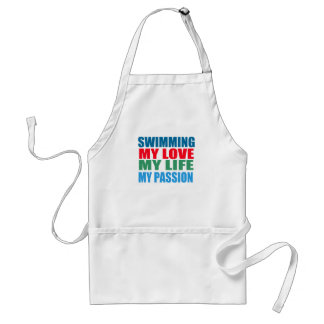 Swimming is my Passion Adult Apron