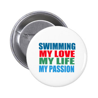 Swimming is my Passion Pinback Button