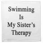 Swimming Is My Sister's Therapy Cloth Napkins
