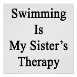 Swimming Is My Sister's Therapy Posters