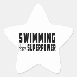 Swimming is my superpower star sticker