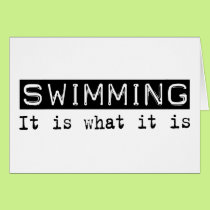 Swimming It Is Card