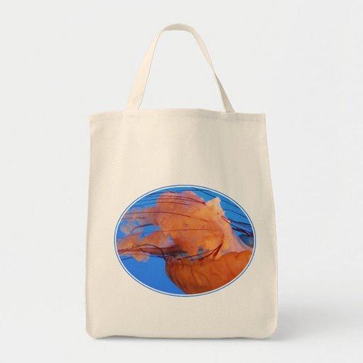 Swimming Jellyfish Grocery Bag