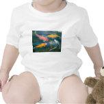 Swimming Koi Fish Art T Shirts