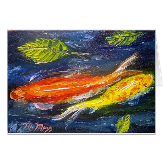 Swimming Koi Fish Card