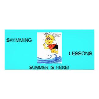 Swimming Lessons Cartoon Rack Card