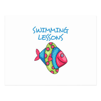SWIMMING LESSONS POSTCARD