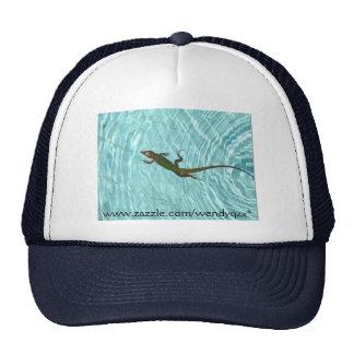 Swimming Lizard - reverse Mesh Hats