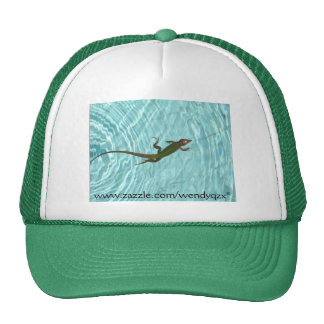 Swimming Lizard Trucker Hat