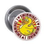 Swimming Love Duck 2 Inch Round Button