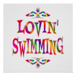 Swimming Lover Poster