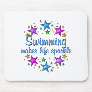 Swimming Makes Life Sparkle Mouse Pad