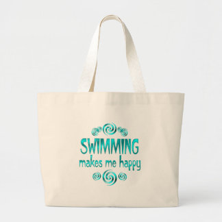 Swimming Makes Me Happy Bags
