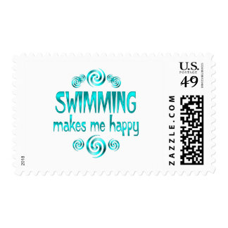 Swimming Makes Me Happy Postage