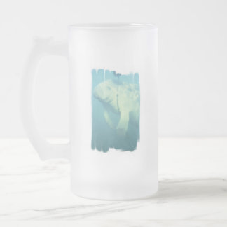 Swimming Manatee Frosted Beer Mug