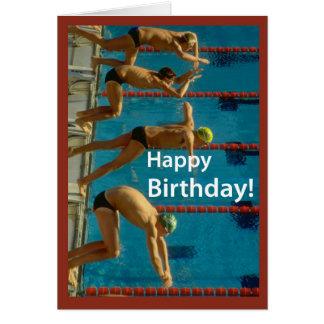 Swimming Men's Birthday Greeting Card