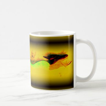 Beach Themed swimming mermaid coffee mug