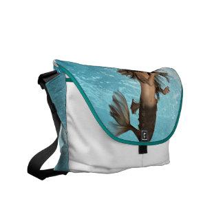 Swimming Mermaid Messenger Bag