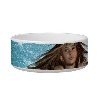 Swimming Mermaid Pet Bowl Cat Water Bowl