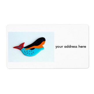 swimming mermaid shipping labels