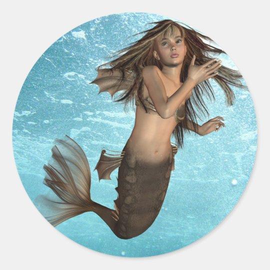 Swimming Mermaid Stickers