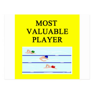 SWIMming most valuable player Postcard