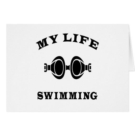 Swimming My Life Greeting Card