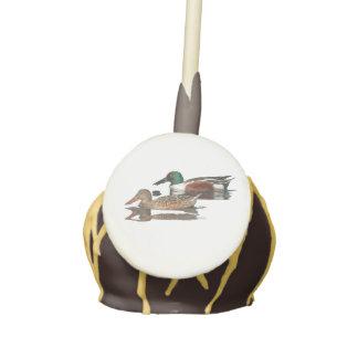 Swimming Northern Shovelers Cake Pops