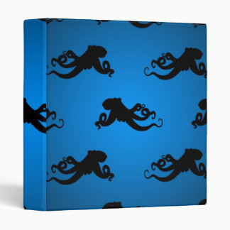 Swimming Octopus Silhouettes Binder