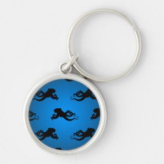 Swimming Octopus Silhouettes Keychain