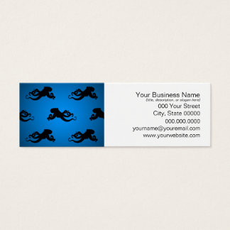 Swimming Octopus Silhouettes Mini Business Card