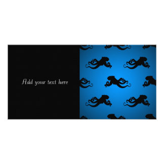 Swimming Octopus Silhouettes Photo Card Template
