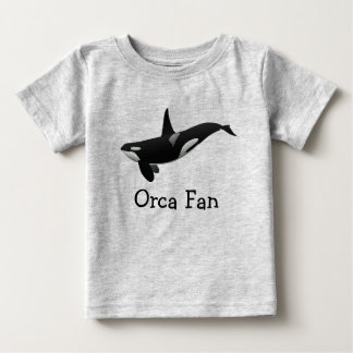 Swimming Orca Baby Tee