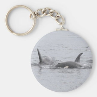 Swimming Orcas Keychain