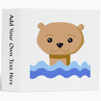 Swimming Otter. 3 Ring Binder