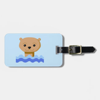 Swimming Otter. Bag Tag