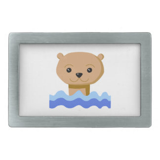 Swimming Otter. Belt Buckle