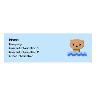 Swimming Otter. Business Card Template