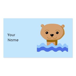 Swimming Otter. Business Cards