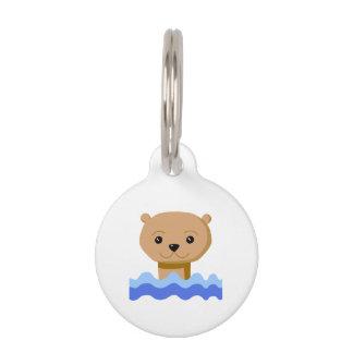 Swimming Otter. Pet Nametags