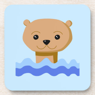 Swimming Otter. Drink Coaster