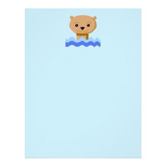 Swimming Otter. Letterhead