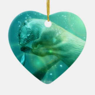 Swimming Otter Ornament