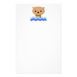 Swimming Otter. Custom Stationery